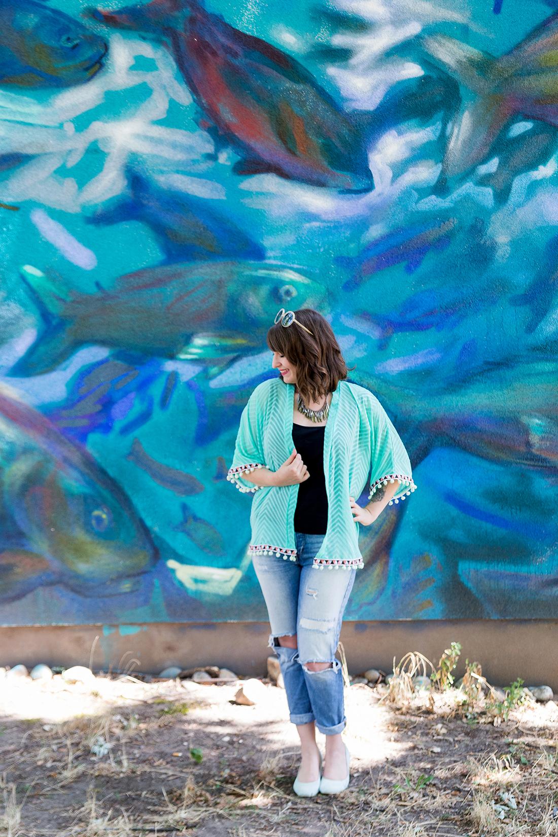 naehdirwas: Transparenz - mein Chiffon-Kimono in Mint | mein feenstaub