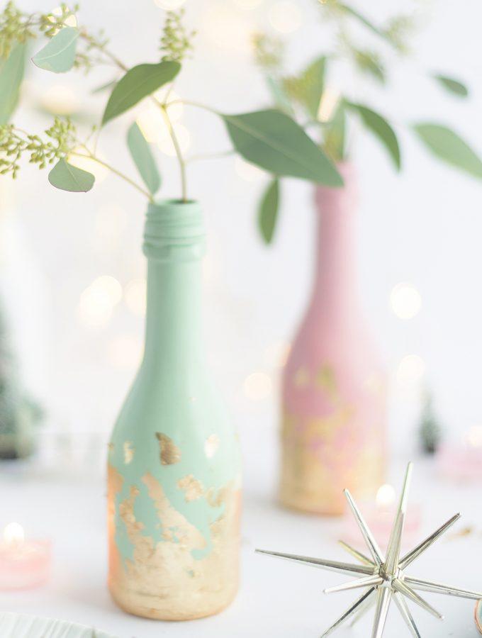 DIYnachten Türchen 1: Edle Upcycling-Vasen aus leeren Flaschen & Giveaway