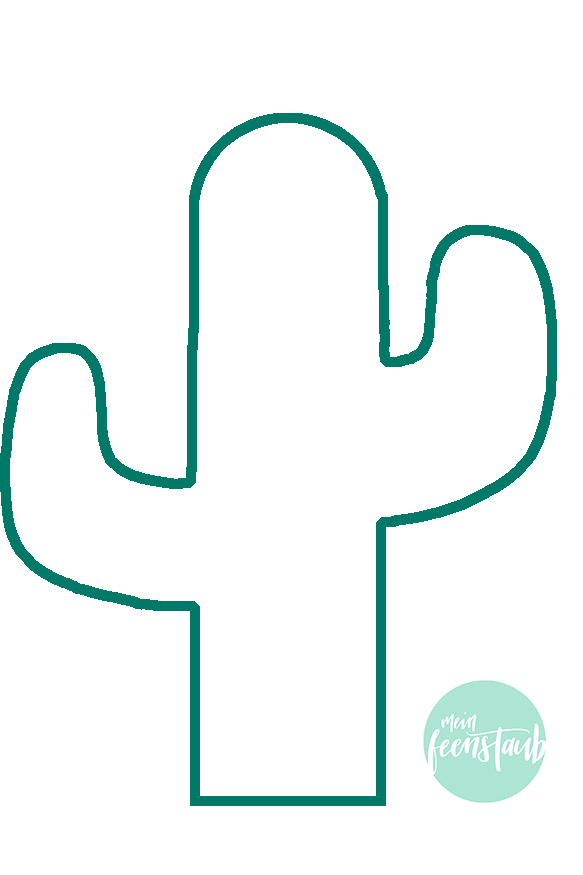 kaktusvorlage  mein feenstaub