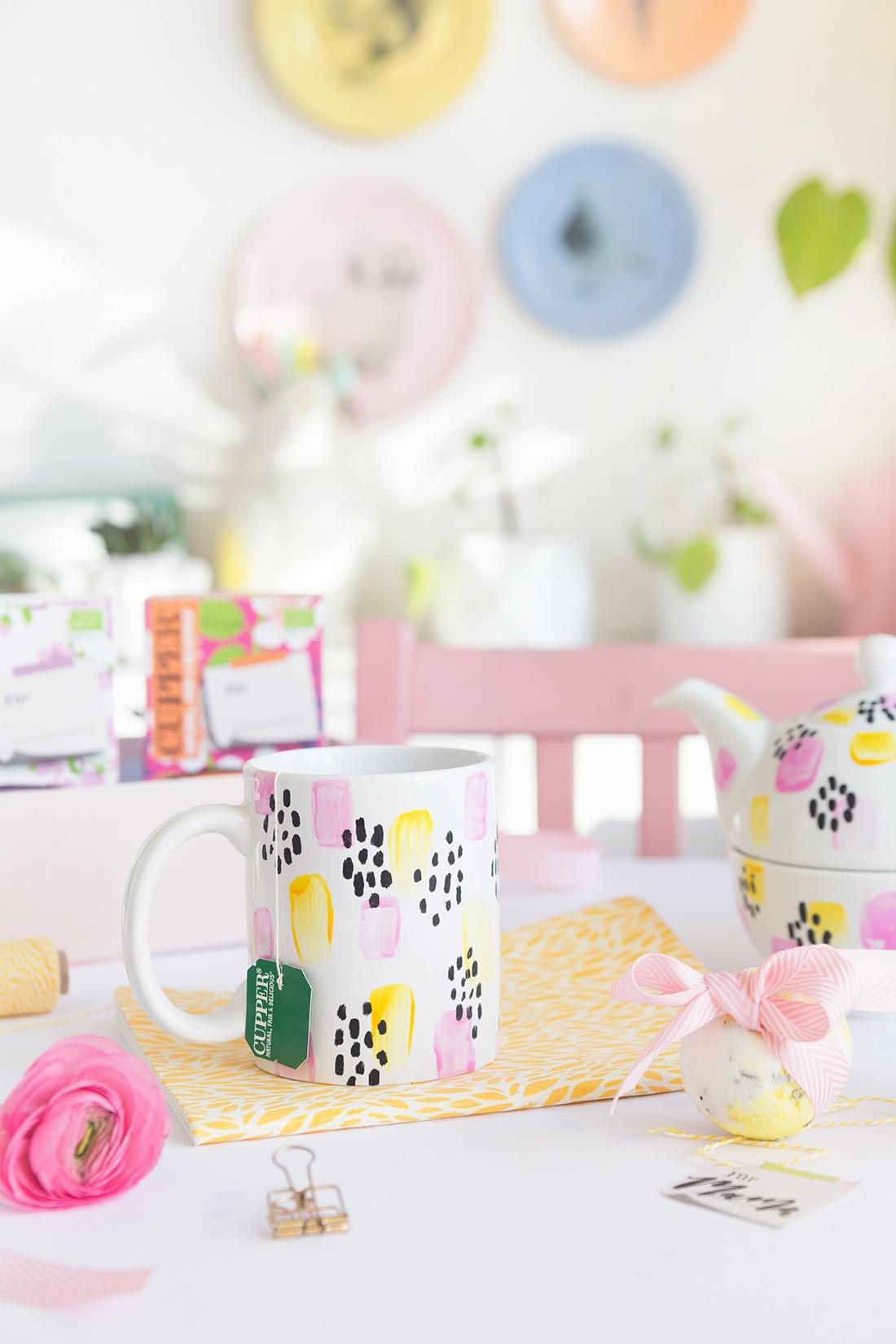 Diy Geschenk Idee Wellness Set Mit Diy Teetasse Und Zitronen Badebomben Verlosung Mein Feenstaub