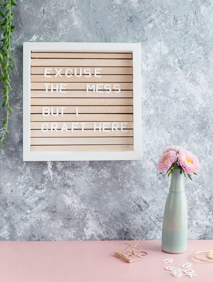 DIY-Letterboard aus Bilderrahmen | ARD-Buffet