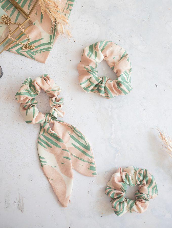 DIY: Scrunchie nähen - 3 Varianten für DIY Haargummis